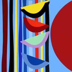 Buy- Vertical Rhythm II- signed limited edition abstract silkscreen print by Sir Terry Frost from CCA Galleries online. Sonia Delaunay, Bright Art, Principles Of Design, English Artists, Modern Masters, Silk Screen Printing, Art Plastique, Op Art, Frost