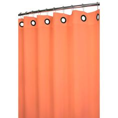 Watershed Dorset Solid Large Grommet Shower Curtain in Tangerine - DSLG40-TANGERINE