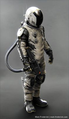 Space suit - side view by ~sammcj1962 on deviantART | Sci ...
