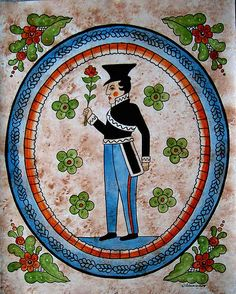 The Prince | by Viveca Lammers. These Kurbits patterns were developed in the area around Leksand in Dalarna in Sweden around 1800 and they have become symbolic for Sweden. http://swedishdalapaintings.blogspot.se/