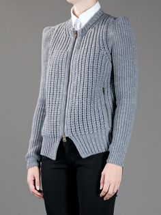 STELLA MCCARTNEY - ribbed zip up cardigan 3