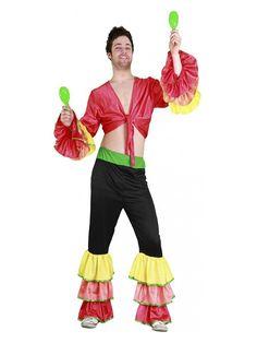 El disfraz de rumbero hombre, incluye Camisa y pantalón en DisfracesMimo.com