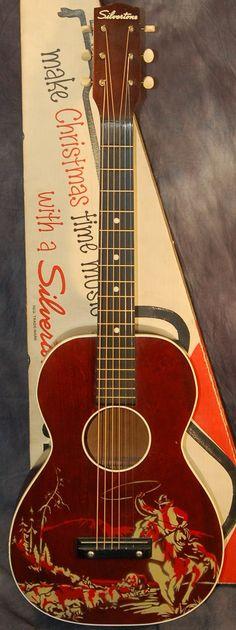 "Silvertone ""Cowboy"" Guitar --- https://www.pinterest.com/lardyfatboy/"