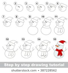 Stock Photo and Image Portfolio by Kid_Games_Catalog Christmas Doodles, Christmas Drawing, Christmas Art, Pencil Art Drawings, Doodle Drawings, Drawing Sketches, Easy Drawings For Kids, Drawing For Kids, Art For Kids