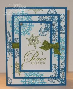 stampin up cards to make | ...  Bunny: Ascending Rectangles Snowflake Soiree Stampin Up! card