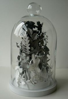 Very cool paper work, and also the only kind of terrarium I could keep alive.
