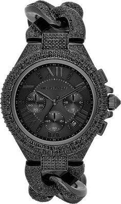 Michael Kors black pavé watch