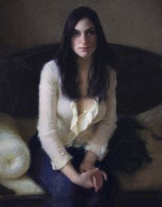 The White Blouse   by Jeremy Lipking