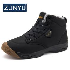 Shoes Just New Fashion Men Winter Shoes Solid Color Snow Boots Plush Inside Antiskid Bottom Keep Warm Boots Size 41-47 Black Brown Grey
