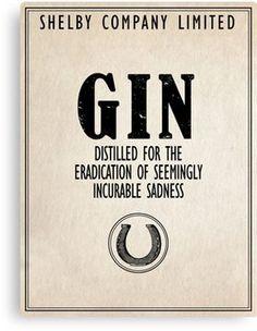 Gin The Eradication of Sadness Canvas Print