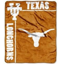 Texas Longhorns 50x60 Royal Plush Raschel Throw Blanket - School Spirit Style
