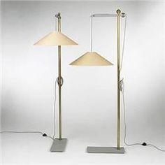 Andree Putman Kraft collection floor lamps, pair