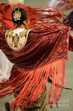 Pow Wow Lady In Red Photograph by Bob Christopher Native American Dress, Native American Regalia, Native American Pictures, Native American Beauty, Native American Beadwork, American Indians, Fancy Shawl Regalia, Powwow Regalia, Powwow Beadwork