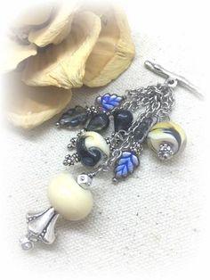 ** Interchangeable Handmade Lampwork Glass Beaded Dangle  Necklace #1025D @beaddangledesign