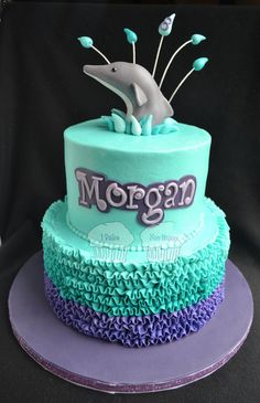 Dolphin & Ruffles Cake
