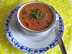Zupa pomidorowa z serem topionym i zacierkami | Cały mój świat