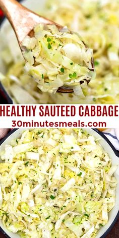 Sauteed Cabbage is the perfect side dish or light main meal. Budget friendly, healthy and flavorful, ready in just 30 minutes! #cabbage #sauteedcabbage #friedcabbage #30minutesmeals #sidedish #stpatricksdayrecipes Side Dishes For Bbq, Best Side Dishes, Healthy Side Dishes, Vegetable Side Dishes, Easy Vegetable Recipes, Vegetarian Recipes, Healthy Recipes, Fun Recipes, Amazing Recipes