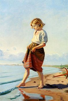 Michael P Ancher, Is The Water Cold?.