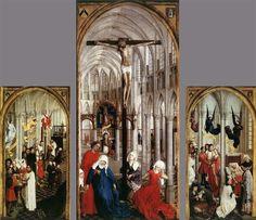 Рогир ван дер Вейден. Алтарь Семи Таинств. 1445—1450гг. Нью-Йоркская галерея искусств.