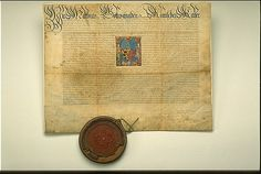 Patent of Nobility for Leopoldt Pštsch.  Illuminated manuscript.  Linz, Austria. 1613.