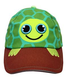 Kids fashion - Green Tony Turtle Baseball Cap by Kyber Outerwear