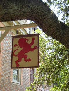 Lion sign; Colonial Williamsburg