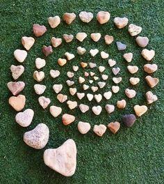 espiral de pedras