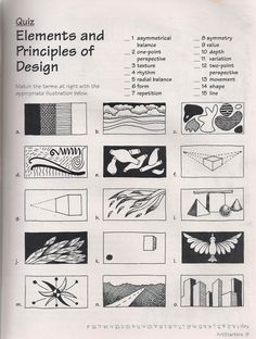 No Corner Suns: The Elements and Principles of Art: Free Quiz download, or review for your class that your students will not understand and hate.