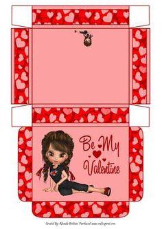 Be My Valentine Gift Box on Craftsuprint - Add To Basket!