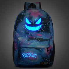 Pokemon Gengar Glow in the Dark Backpack https://www.90skid.com/products/pokemon-gengar-galaxy-backpack