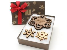 Personalized Ornament Christmas Snowflake by TimberGreenWoods