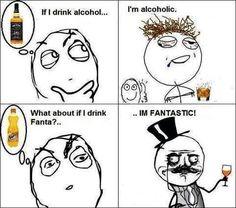 drinking fanta