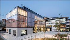 Fachada cambiante de #Okalux para el #Centro #Cultural de #Kungsängen #OKATECH