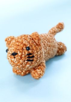 This baby crochet tiger made with Vanna's Choice is one adorable amigurumi.  Make it for a child or stuff it with catnip for your favorite feline.