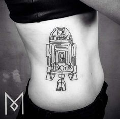 R2D2 Star Wars Tattoo by Mo Ganji