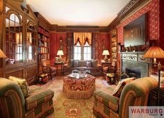 Library at 770 Park Avenue, Apt. 4/5-B, Upper East Side, New York, NY.