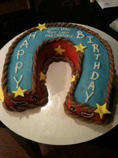 Horseshoe Paisley Cake For Grandpa S Birthday