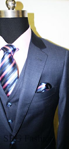 SRG FASHION-ASTORIA, QUEENS, NY-BRESCIANI-MENS SUIT-3 PIECE SUIT-MADE IN ITALY-SUPER 150'S WOOL-B-3P-30-PIC1