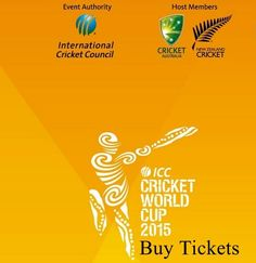 Buy cricket world cup 2015 tickets from icc official site www.cricketworldcup.com.
