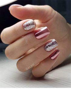 pink glitter Acrylic short square nails design for summer nails, Short square nails color ideas, Natural gel short square nails design, Pretty and cute acrylic nails design Nail ShortNails AcrylicNails SquareNails - Sparkle Nails, Fancy Nails, Trendy Nails, Love Nails, My Nails, Pretty Gel Nails, Cute Acrylic Nails, Acrylic Nail Designs, Nail Art Designs
