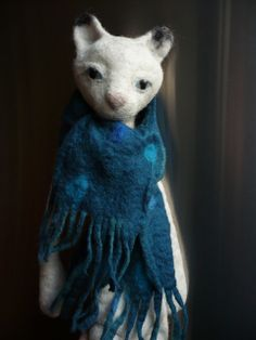 chat d'hiver - winterkatze - wintercat by swig - filz felt feutre, via Flickr