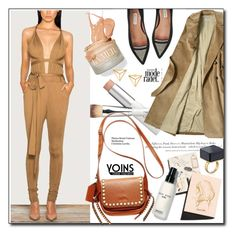 """""""How to wear jumpsuit"""" by nastya-d ❤ liked on Polyvore featuring Garance Doré, W3LL People, H&M and Bobbi Brown Cosmetics"""