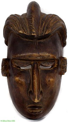Bamana Face Mask Pointed Nose and Cheeks African  Type of Object:Face Mask   Ethnic Group: Bamana, Segou-Sara region  Country of Origin: Mali   Materials: Wood   Approximate Age: mid/second half 20th Century