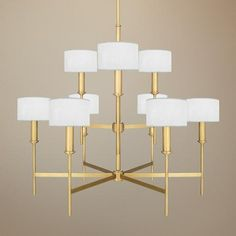 Love this style of fixture - brass is back.