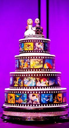 Disney Film Strip Wedding Cake