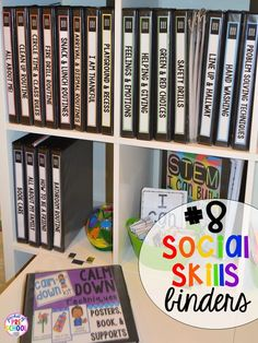 Social skills supports hack plus 14 more classroom organization hacks to make teaching easier that every preschool, pre-k, kindergarten, and elementary teacher should know. FREE theme box labels too! Classroom Organisation, Binder Organization, Classroom Setup, School Organization, Classroom Hacks, Creative Classroom Ideas, Classroom Management, Autism Classroom, Preschool Classroom