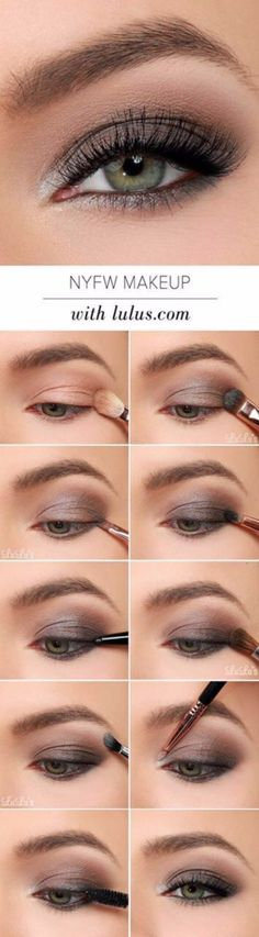 to NYFW inspired Eye Make-up tutorial. Grayish & Brown Eye shadow for dull d How to NYFW inspired Eye Make-up tutorial. Grayish & Brown Eye shadow for dull d , How to NYFW inspired Eye Make-up tutorial. Grayish & Brown Eye shadow for dull d , Smoky Eye Makeup Tutorial, Smokey Eye Makeup, Skin Makeup, Grey Eye Makeup, Makeup Case, Eye Makeup For Hazel Eyes, Makeup Box, Brown Eyeshadow Tutorial, Eyeshadow Step By Step