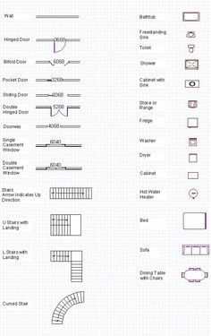 Printable plan symbols 34 page pdf httpinformationdestination a complete glossary of all the basic house plans blueprint symbols also see our free tutorials how to read blueprints and make your own blueprint malvernweather Images