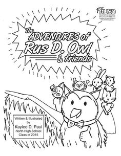 The Adventure of Rus D. Owl Coloring Book