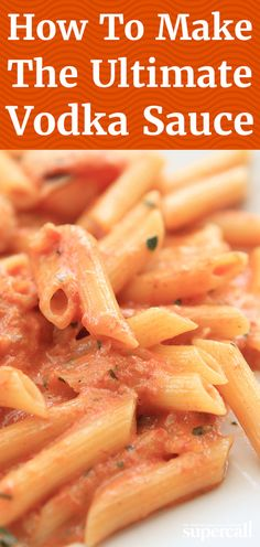 We think vodka sauce is kind of perfect. It's a harmonious balance of sweet cr.We think vodka sauce is kind of perfect. It's a harmonious balance of sweet crushed tomatoes, silky butter and cream, and spicy vodka and crushed red pepper. Pasta Con Vodka, Penne Vodka Sauce, Creamy Vodka Sauce, Red Pepper Sauce Pasta, Pasta Sauce Recipes, Pasta Sauce Recipe For One, Pasta With Red Sauce, Rigatoni Recipes, Pasta Sauces